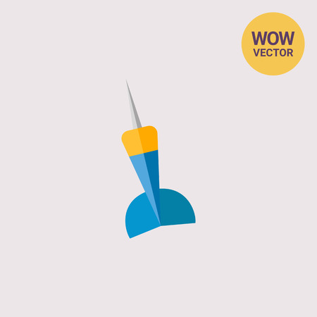 lanzamiento de jabalina: Icono de Dardo Azul y Amarillo