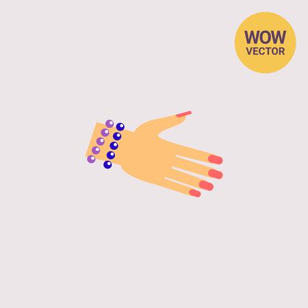 Bracelet on Woman Hand Icon