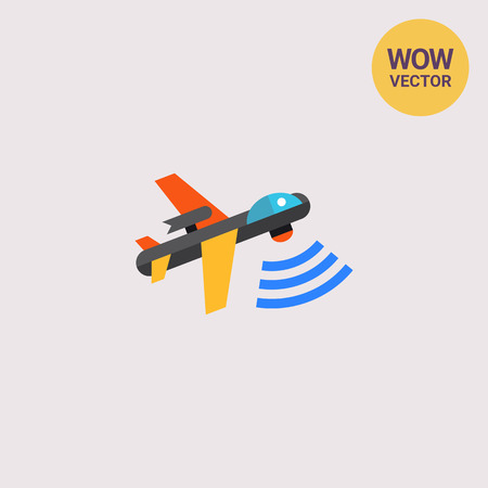 combatant: Combat Aerial Military Drone Icon Illustration