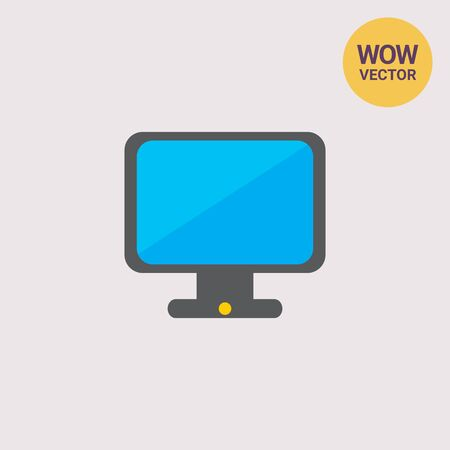 Icon of computer monitor Stock Photo