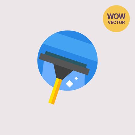 Cleaning Window Icon Illustration