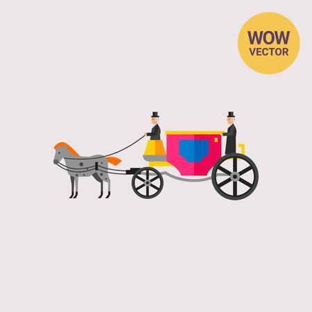 Horse and Coachman Icon