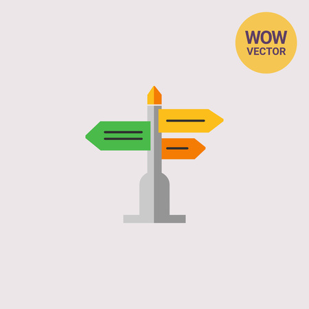 navigating: Direction sign icon Illustration