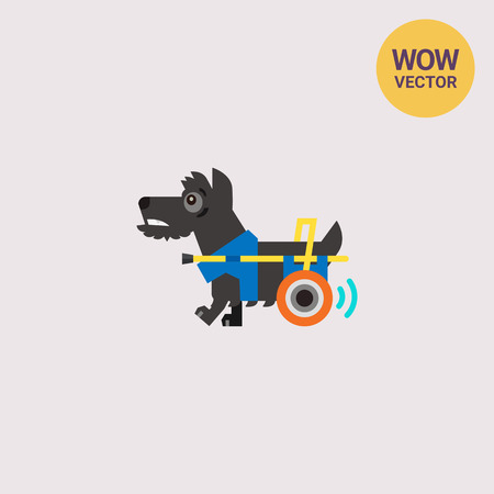 Disabled Dog with Prosthesis Icon