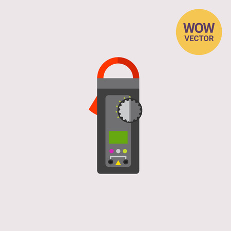 Digital Clamp Meter Icon Vector Illustration