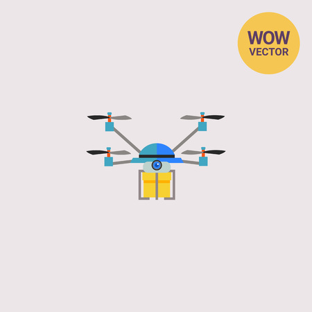Drone Delivery flat icon