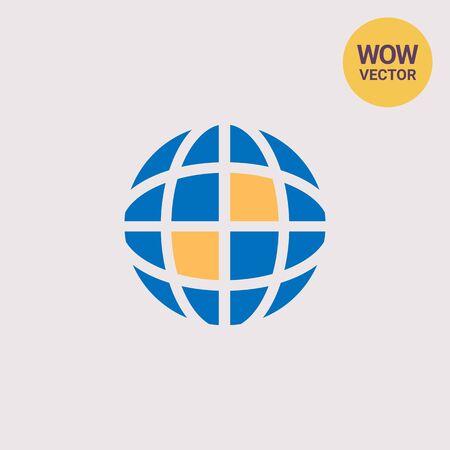 Earth globe Vectores