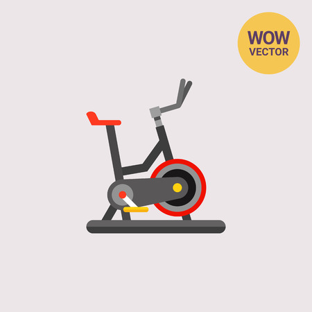 Exercise Bike Icon Illustration