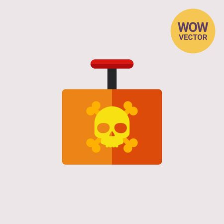 Explosive Detonator Vector Icon Illustration
