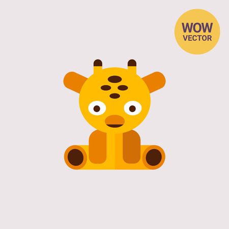 baby playing toy: Giraffe toy icon