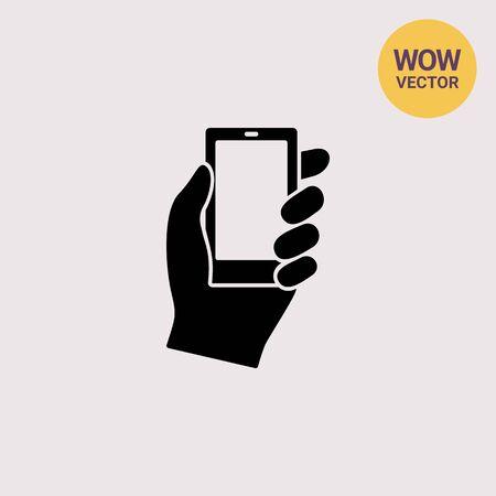 smartphone hand: Hand With Smartphone Icon