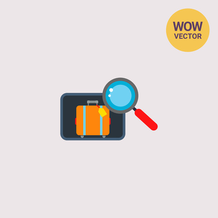 Inspection of Luggage Vector Icon