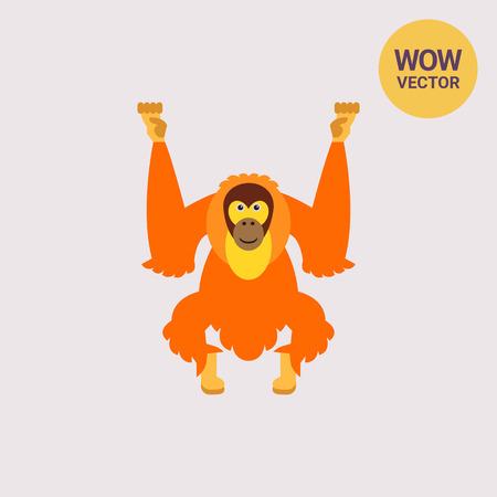 Isolated Orangutan Icon