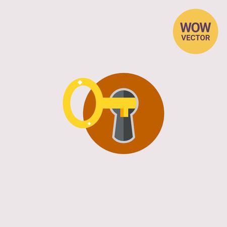 Key in Keyhole Icon