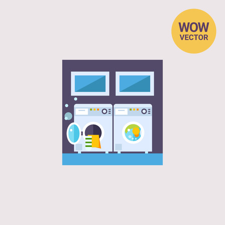 laundrette: Laundry with Two Washing Machines Icon