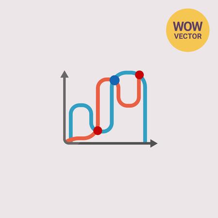 uptrend: Line graphs icon
