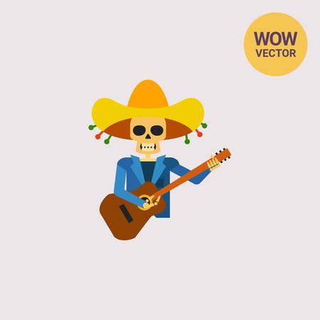ballad: Mariachi Skeleton Guitar Player Icon