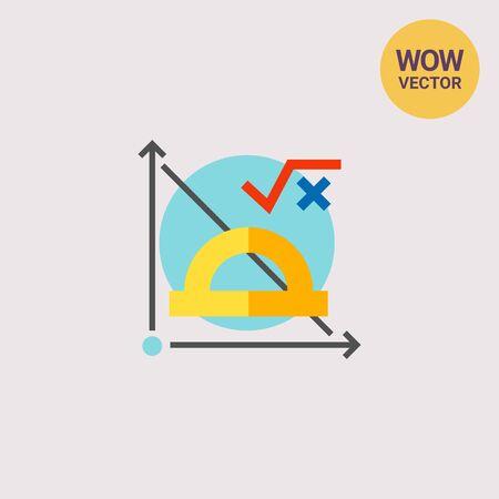 Math Formula and Graph Icon