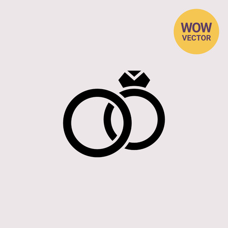 Marriage simple icon