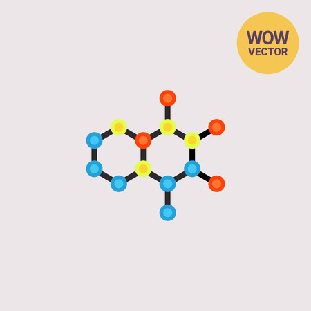 Molecular Structures Vector Icon