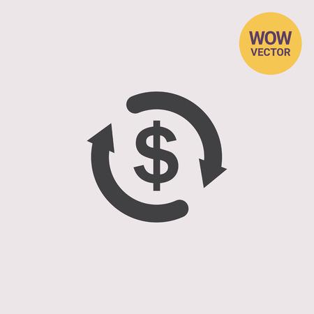 money: Money cycle Illustration