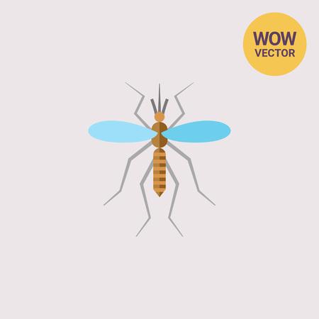 poquito: Mosquito icono plano