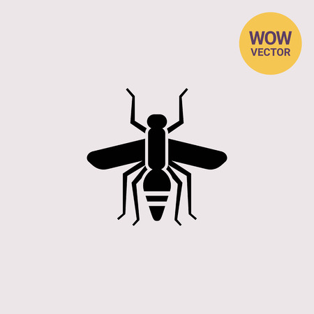 Mosquito silhouette icon Illustration