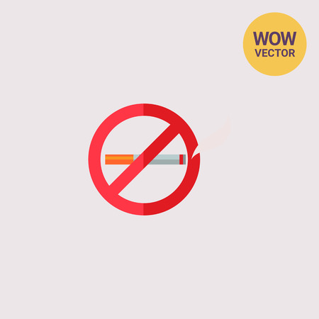 salud publica: No Smoking Sign Icon Vectores