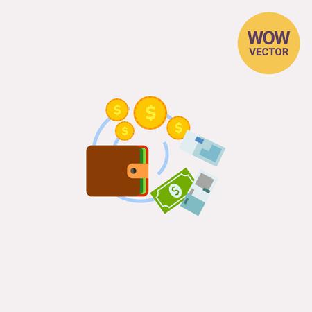 Cashflow Management Icon Illustration