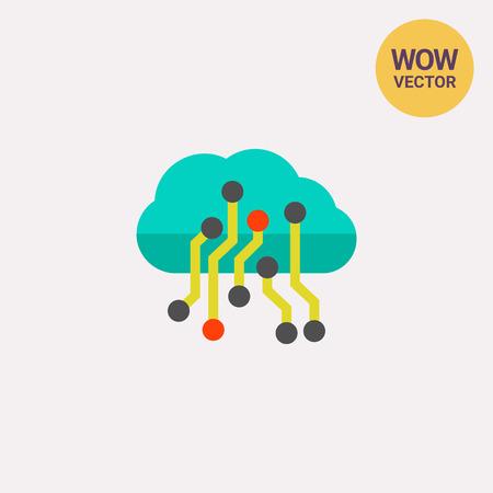 remote server: Cloud Big Data Icon