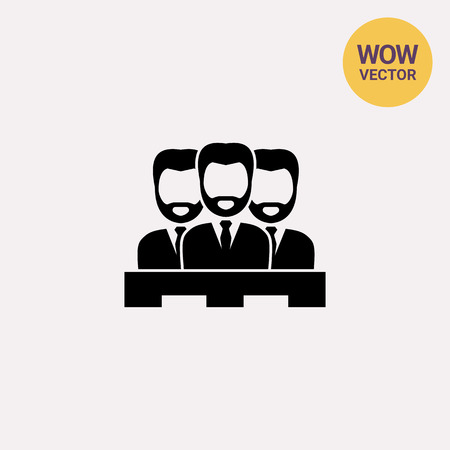 juror: Jury of Three Men Icon Illustration