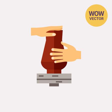 Making Vase Vector Icon