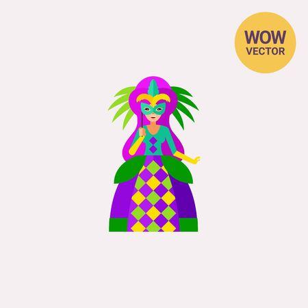 new orleans: Mardi Gras queen icon Illustration
