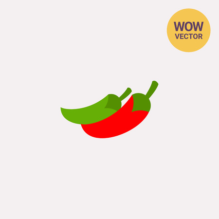 cayenne: Icon of red and green jalapeno peppers. Vegetable, chili pepper, paprika. Mexican food concept. Can be used for topics like spicy food, organic or crop