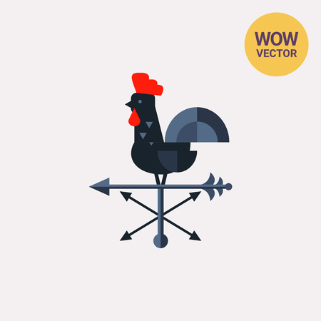 Rooster Wind Vane Icon