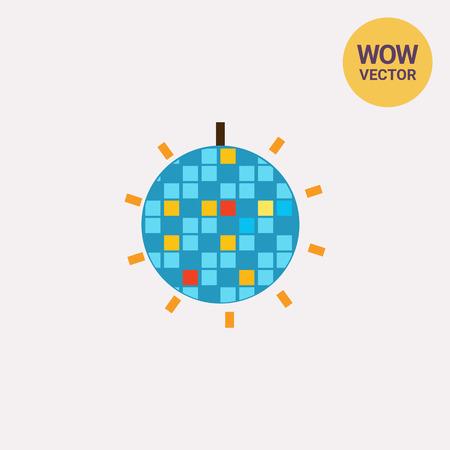 Shiny disco ball icon Illustration