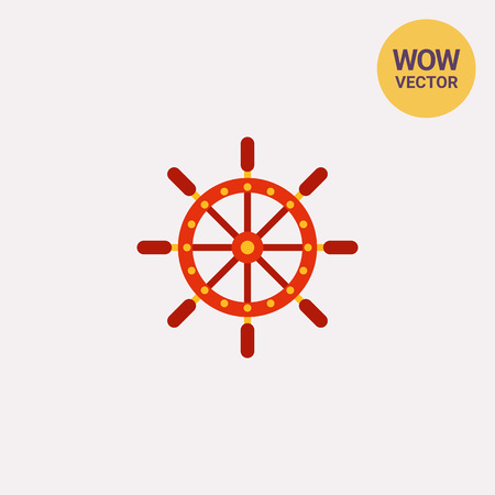 ruder: Schiff Lenkrad-Symbol Illustration