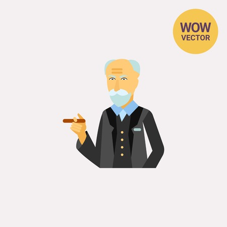 Sigmund Freud vector icon