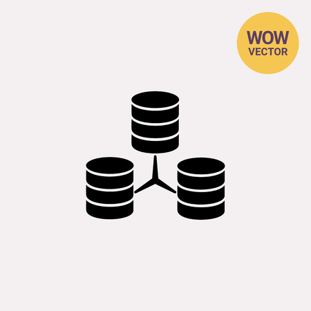 Stacks of Discs as Database Concept Icon Illustration