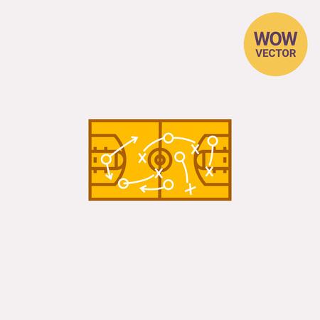strategic position: Strategical Basketball Game Plan Icon
