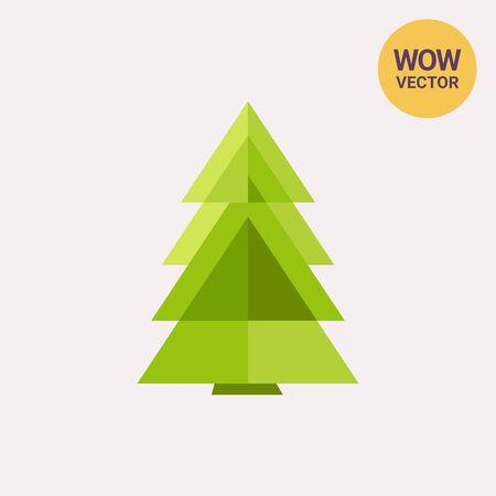 Icono estilizado árbol de abeto Ilustración de vector
