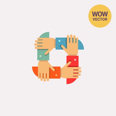 teamwork: Teamwork icon Illustration