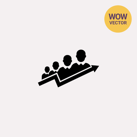 succes concept pictogram teamwork