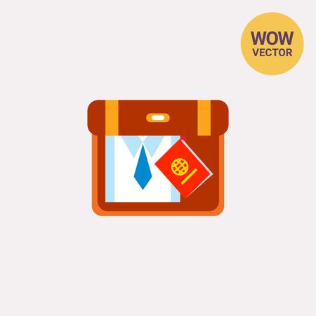packing suitcase: Packing suitcase Illustration