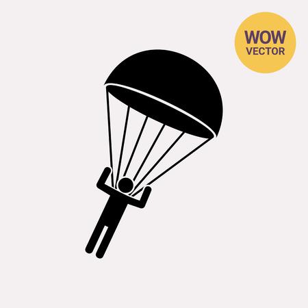 Parachutist Landing Icon