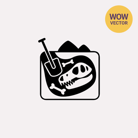 Paleontology simple icon