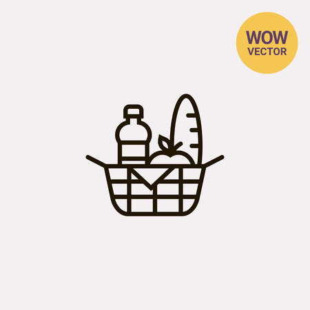 basket: Picnic basket Illustration