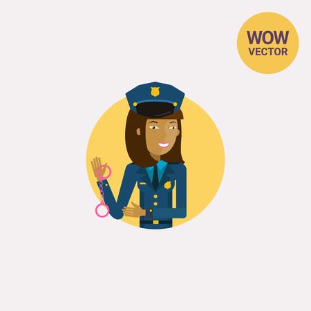 Policewoman icon. Illustration