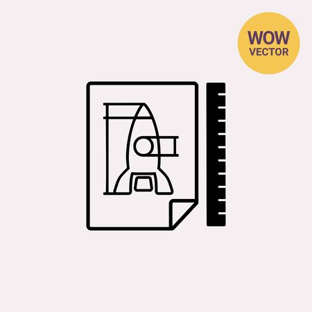Prototype simple icon Illustration