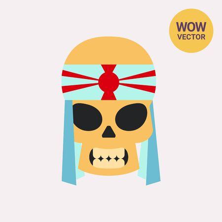 Skull of Kamikaze with Bandage Icon